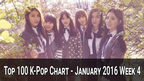 Top 100 K-Pop Songs Chart - January 2016 Week 4