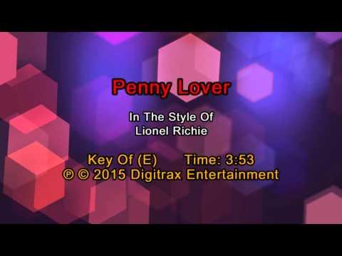 Lionel Richie - Penny Lover (Backing Track)