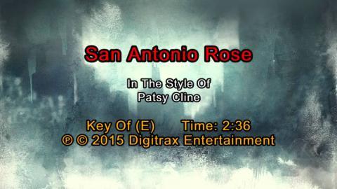 Patsy Cline - San Antonio Rose (Backing Track)