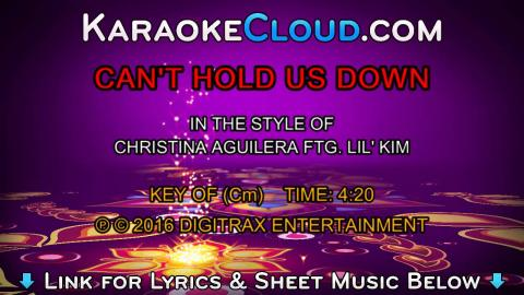 Christina Aguilera ftg. Lil Kim - Can't Hold Us Down (Backing Track)