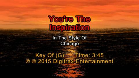 Chicago - You're The Inspiration (Backing Track)