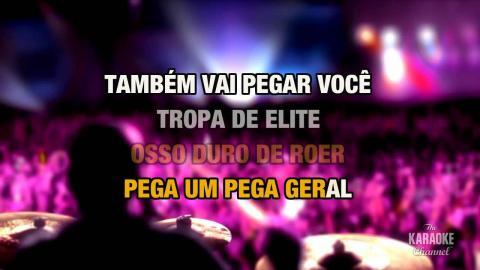 Tropa de Elite in the style of Tihuana | Karaoke with Lyrics