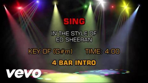 Ed Sheeran - Sing (Karaoke)
