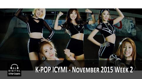 K-Pop ICYMI - November 2015 Week 2 (New K-Pop Releases)