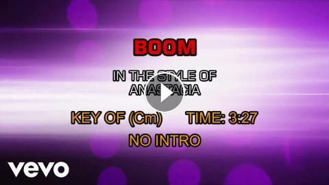 Anastacia - Boom (Karaoke)