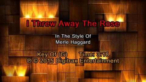 Merle Haggard - I Threw Away The Rose (Backing Track)