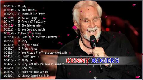 Kenny Rogers Greatest Hits Full Album - Best Country Songs