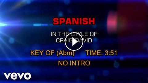 Craig David - Spanish (Karaoke)