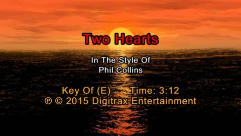 Phil Collins - Two Hearts (Backing Track)