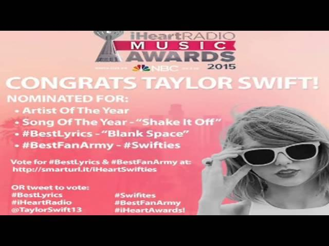 Taylor Swift - VOTE FOR TAYLOR - iHeart Music Awards 2015