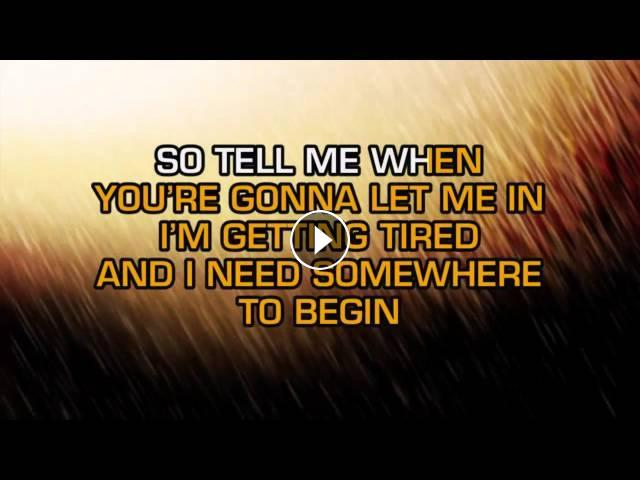 Keane - Somewhere Only We Know (Karaoke)