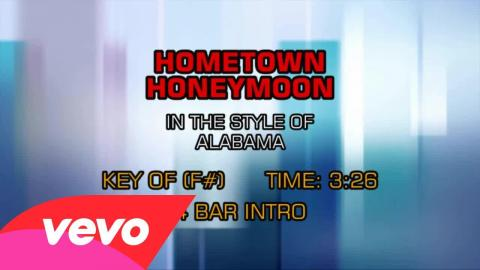 Alabama - Hometown Honeymoon (Karaoke)