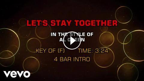 Al Green - Let's Stay Together (Karaoke)