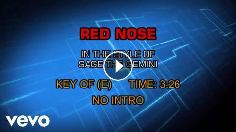 Sage The Gemini - Red Nose (Karaoke)