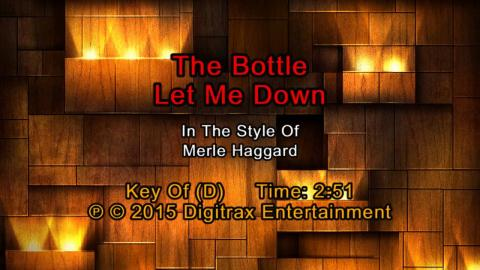 Merle Haggard - The Bottle Let Me Down (Backing Track)