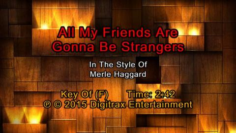 Merle Haggard - (My Friends Are Gonna Be) Strangers (Backing Track)