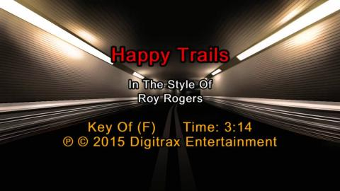 Roy Rogers - Happy Trails (Backing Track)
