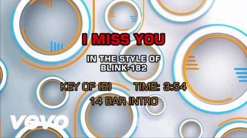 Blink-182 - I Miss You (Karaoke)