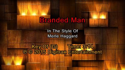 Merle Haggard - Branded Man  (Backing Track)