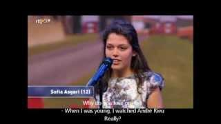 HOLLAND'S GOT TALENT 2013 - SOFIA ASGARI  (12) SINGS AN OPERA (ENGLISH SUBTITLES)